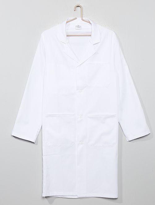 Bata blanca científica                             blanco