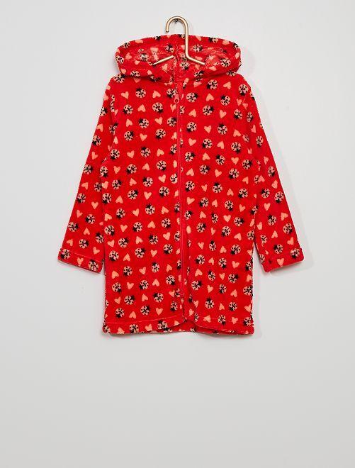 Bata con capucha                     rojo