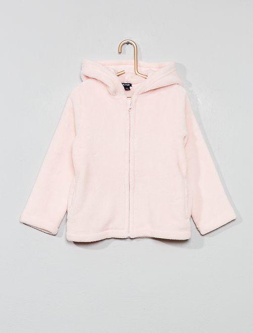 Bata corta polar                                         rosa pálido