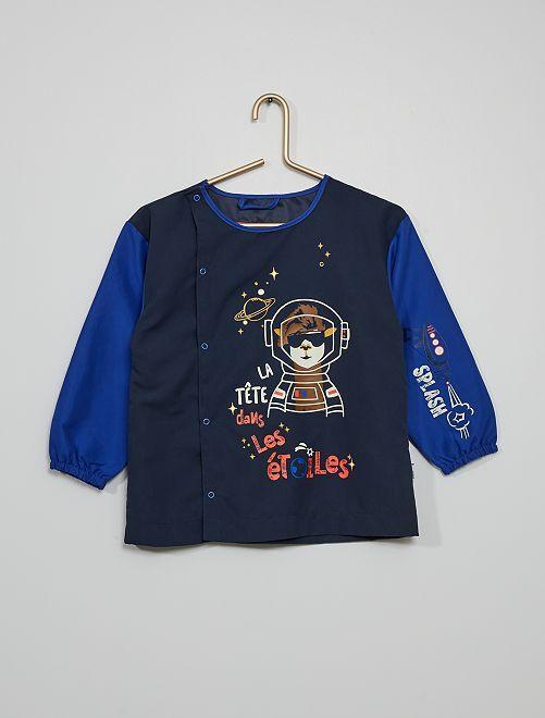 Bata escolar 'astronauta'                             azul