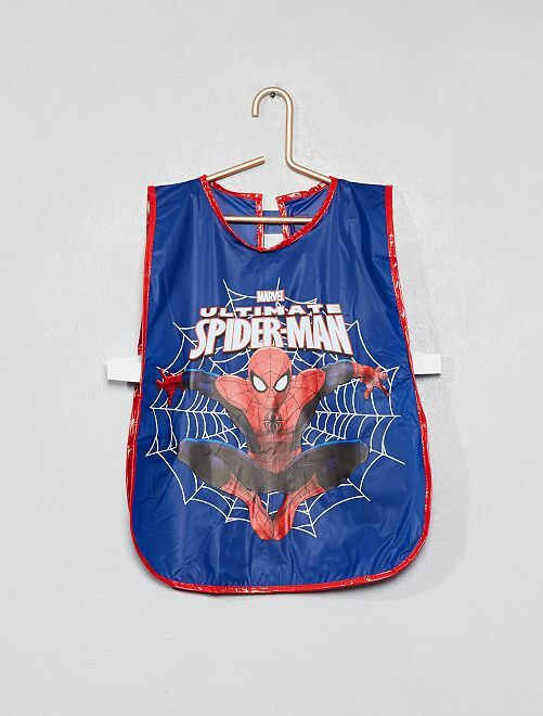 Bata escolar de plástico 'Spiderman'                             AZUL Chico