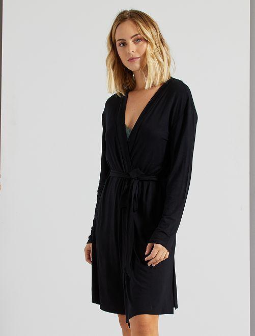 Bata estilo kimono                             negro