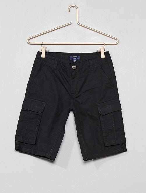 Bermudas cargo comfort fit                                                                             negro Joven niño