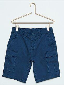Bermudas, shorts - Bermudas cargo de algodón elástico talla grande