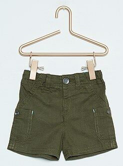 Shorts, bermudas - Bermudas cargo de lino