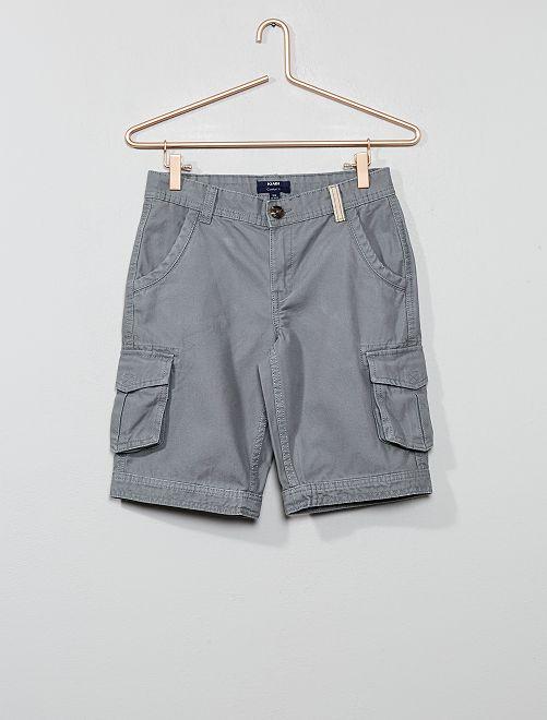 Bermudas cómodas tipo cargo                                                                 gris Joven niño