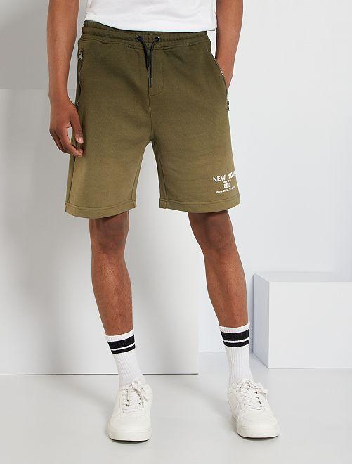 Bermudas con bolsillos con cremallera                             VERDE