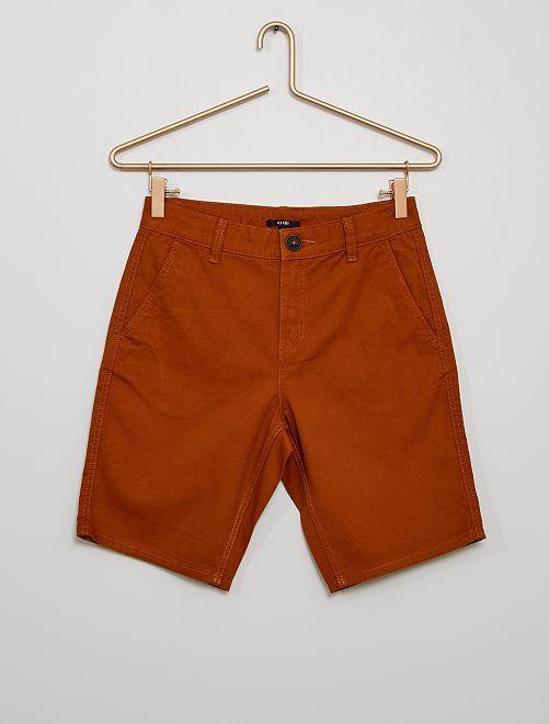 Bermudas de algodón de color                                                                             naranja