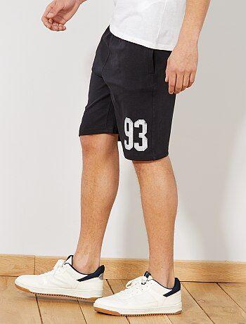 Hombre Pantalones Bermudas Kiabi Negro Cortos Y RnxxYFwa