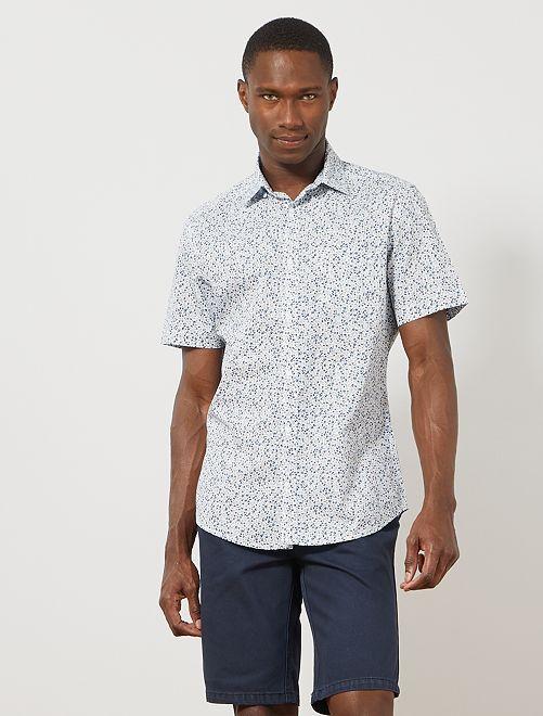 Bermudas de sarga con 5 bolsillos                                                                 AZUL Hombre