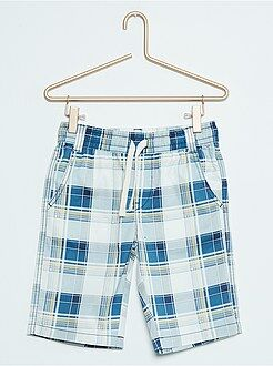 Bermudas, shorts - Bermudas de sarga con estampado 'cuadros'