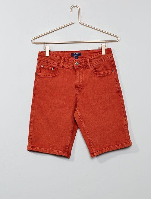 Bermudas de sarga elástica                                                     naranja ketchup Joven niño