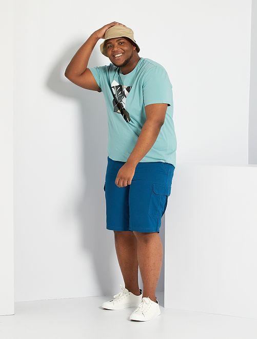 Bermudas estilo cargo                                                                 azul poseidon