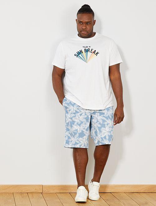 Bermudas lisas tipo chino                                                                                                     AZUL Tallas grandes hombre
