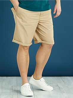 Pantalones cortos y bermudas - Bermudas lisas tipo chino de sarga ligera - Kiabi