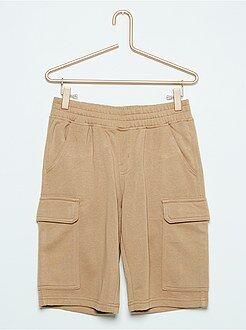 Bermudas, shorts - Bermudas marrones de felpa estilo cargo