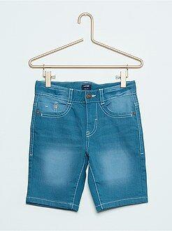 Bermudas, shorts - Bermudas slim elásticas de algodón descolorido
