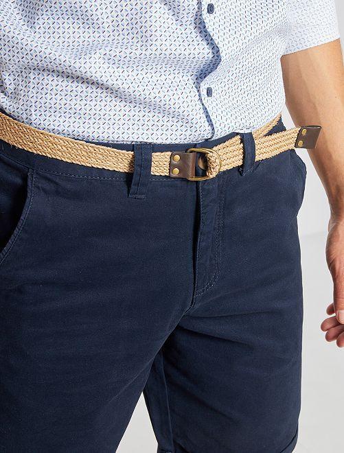 Bermudas tipo chino + cinturón                                                                                                                 AZUL
