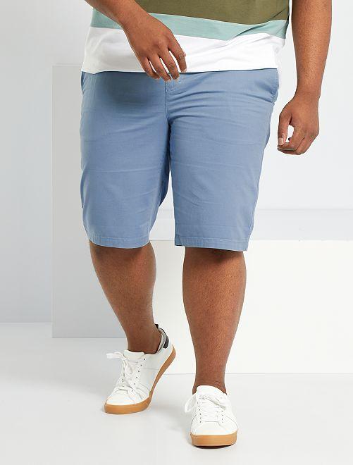 Bermudas tipo chino de sarga                                                                                                                 azul gris