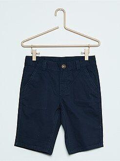 Bermudas, shorts - Bermudas tipo chino de sarga de algodón