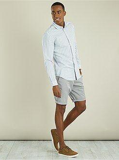 Pantalones cortos y bermudas - Bermudas tipo chino de sarga ligera - Kiabi