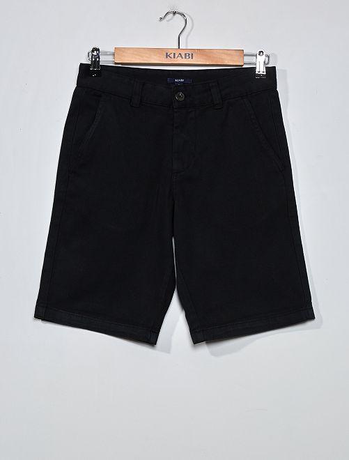 Bermudas tipo chino de sarga                                         negro