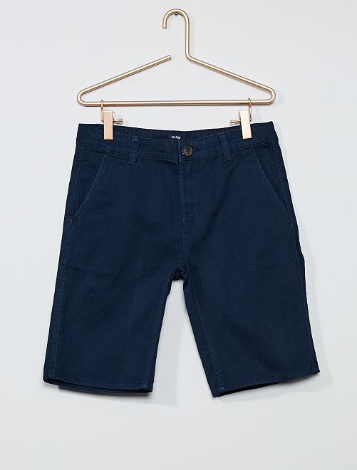 Bermudas tipo chino regular                                                     azul
