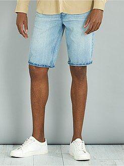 Pantalones cortos y bermudas - Bermudas vaqueras de algodón puro - Kiabi