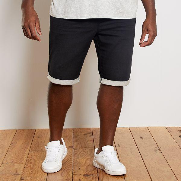 Bermudas Vaqueras Tipo Jogging Tallas Grandes Hombre Negro Kiabi 25 00