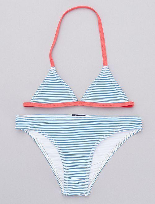 Bikini a rayas                             BLANCO Chica