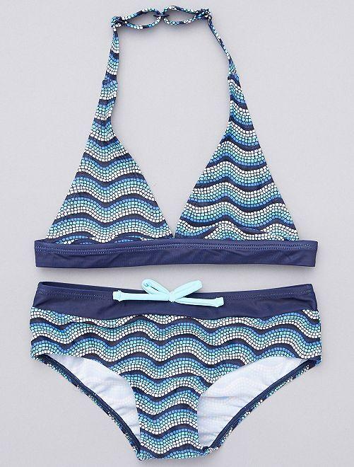 Bikini                                         azul/blanco