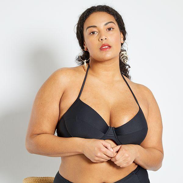 Bikini De Talle Alto Tallas Grandes Mujer Negro Kiabi 32 00