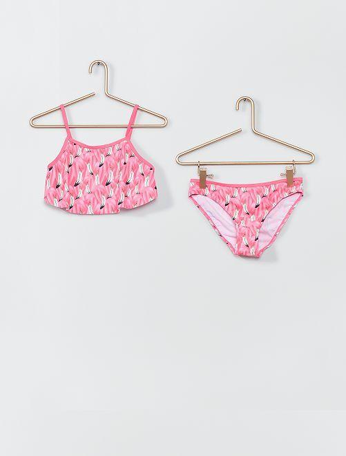 Bikini 'plátano'                             rosa/negro