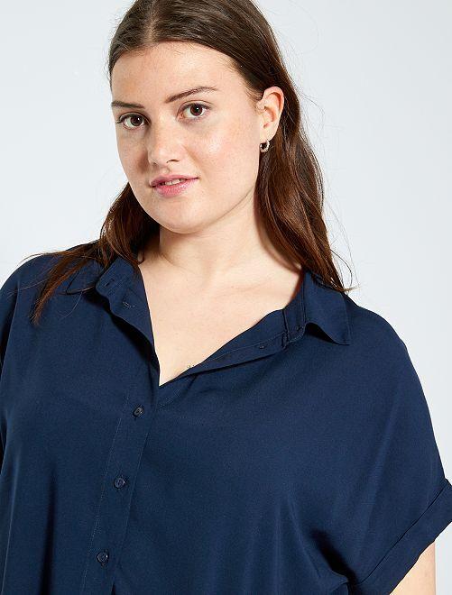 Blusa abotonada                                         azul