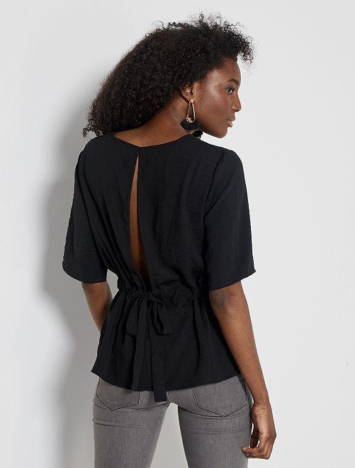 Blusa con cintura ajustada 'JDY'                                         negro