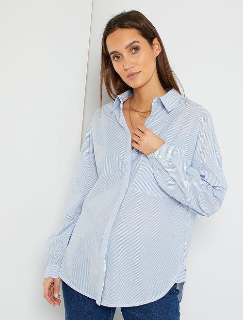Blusa de algodón                                                                 AZUL