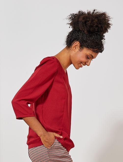 Blusa de manga globo                                         ROJO Mujer talla 34 a 48