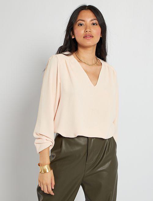 Blusa de manga larga                                                                                         ROSA