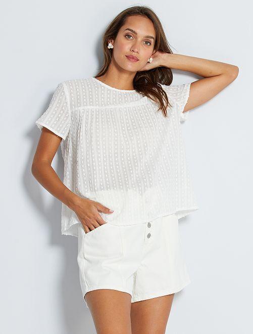 Blusa de plumeti 'JDY'                             blanco