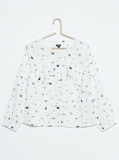 Camisas, blusas - Blusa de viscosa vaporosa con volantes