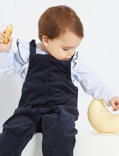 Blusa eco-concepción                                         azul