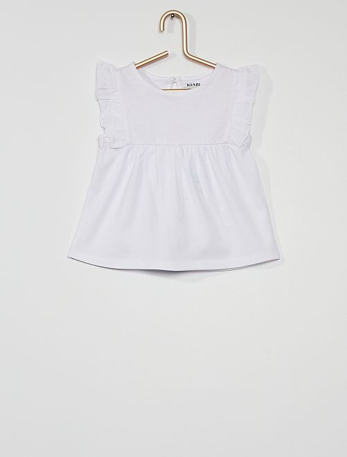Blusa eco-concepción                                                                                                                                                     blanco