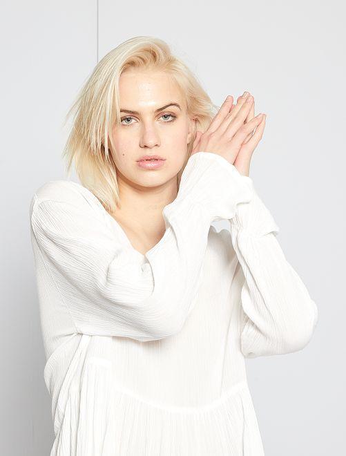 Blusa estilo bohemio 'Jacqueline de Yong'                             blanco