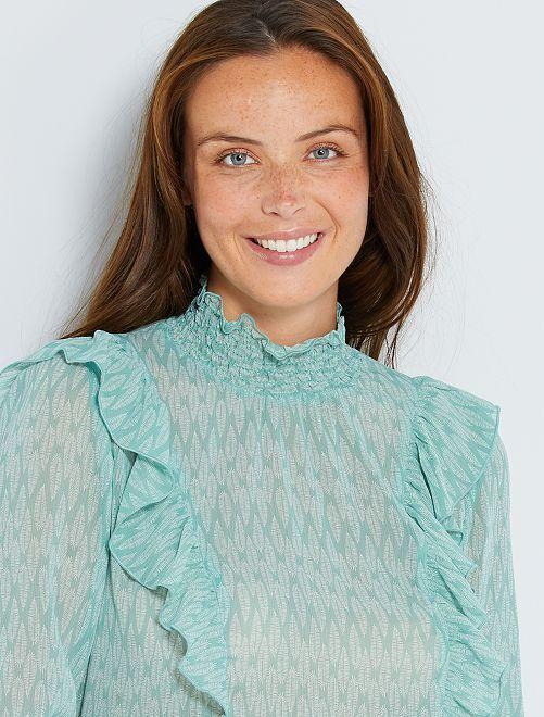 Blusa estilo victoriano 'eco-concepción'                                                                 AMARILLO
