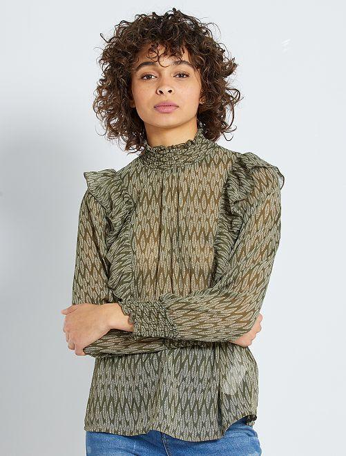 Blusa estilo victoriano 'eco-concepción'                                                                 KAKI