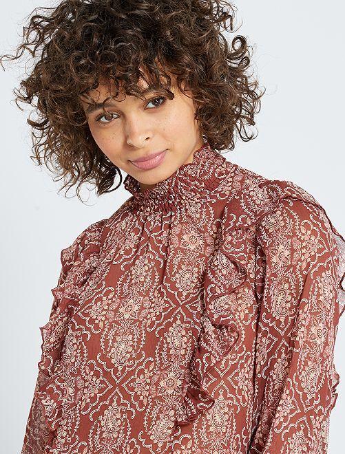 Blusa estilo victoriano 'eco-concepción'                                                                 ROSA