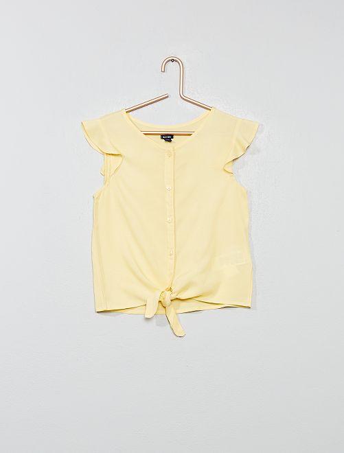 Blusa evasé anudada                     amarillo oro