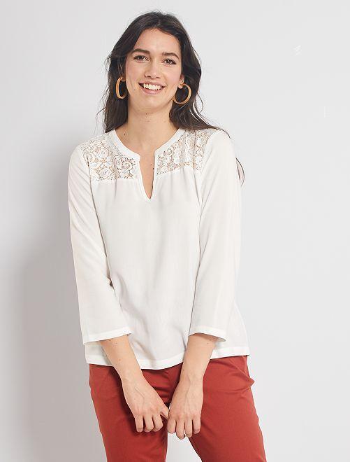 Blusa 'JDY' con encaje                                         blanco