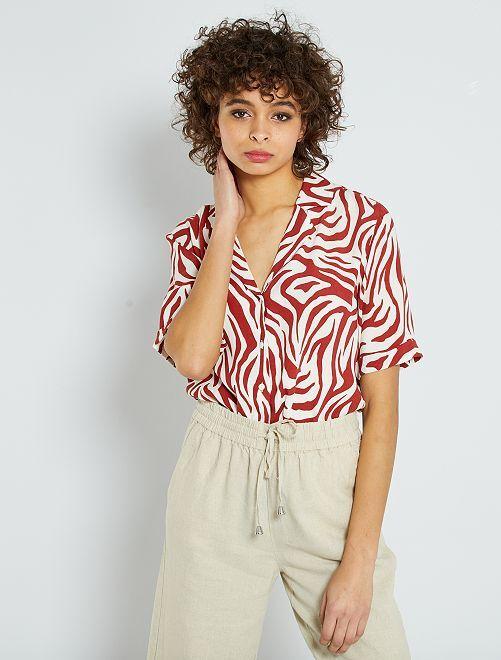 Blusa 'JDY' con estampado de 'cebra'                             BEIGE