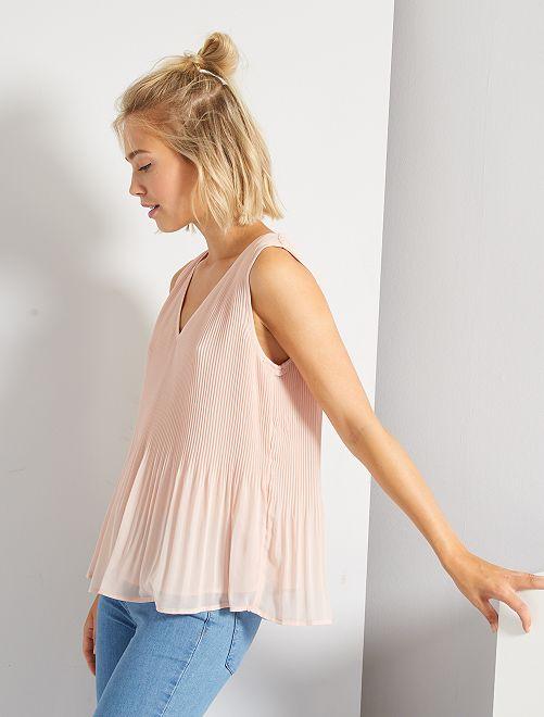 Blusa plisada                                                     ROSA